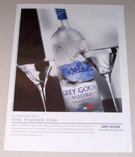 2007 Grey Goose Vodka Color Print Liquor Ad