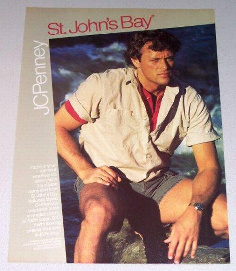 1987 JC Penny St John's Bay Classic Camp Shirt Color Print Clothing Ad