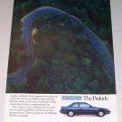 1986 Honda Prelude Automobile 2 Page Color Print Car Ad