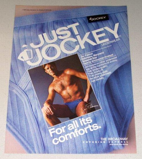 1987 Jockey Underwear Color Print Ad Celebrity Jim Palmer Orioles MLB Baseball