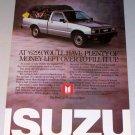 1987 ISUZU PUP Pickup Color Print Truck Ad