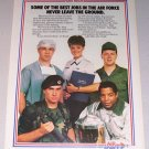 1987 Air Force Recruiting Color Print Military Ad