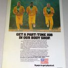 1987 Army National Guard Recruiting Color Print Military Ad