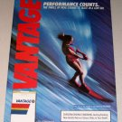 1987 Vantage Cigarettes Water Skiing Color Print Tobacco Ad