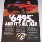 1987 Jeep Comanche Sportruck Pickup Color Print Truck Ad