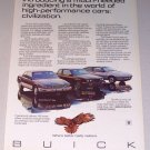 1987 Buick Skyhawk Somerset Riviera Automobiles Color Print Car Ad