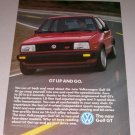 1986 VW Volkswagen Golf GT Automobile Color Print Car Ad