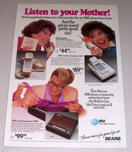 1987 Sears AT&T Telephone Products Color Print Ad