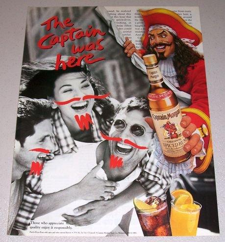 1995 Captain Morgan Spiced Rum Color Print Ad