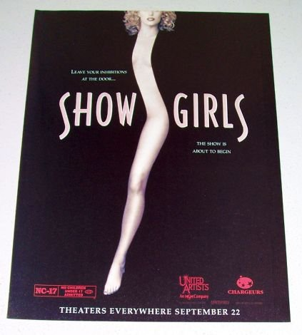1995 Color Print Movie Ad Showgirls