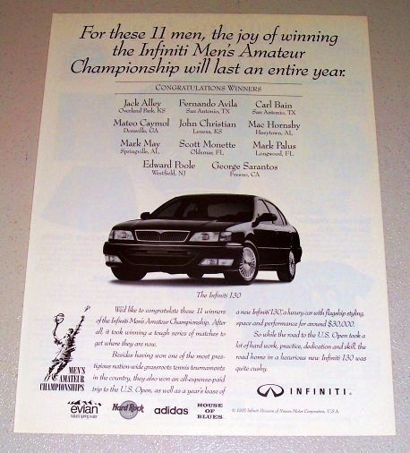 1995 Nissan Infiniti I30 Automobile Print Car Ad