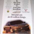 1995 Dodge Intrepid ES Automobile Print Car Ad