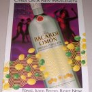 1995 Ron Bacardi Limon Citrus Rum Color Print Art Ad