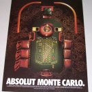 1995 Absolut Vodka Roulette Table Color Print Liquor Ad - Absolut Monte Carlo