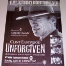 1995 Movie Print Ad UNFORGIVEN Celebrity Clint Eastwood