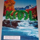 1995 Kool Cigarettes Waterfall Fall Scene Color Print Tobacco Ad