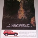 1995 JEEP Cherokee SUV 2 Page Color Print Truck Ad