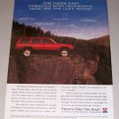1995 Jeep Cherokee Sport 4x4 SUV Color Print Truck Ad