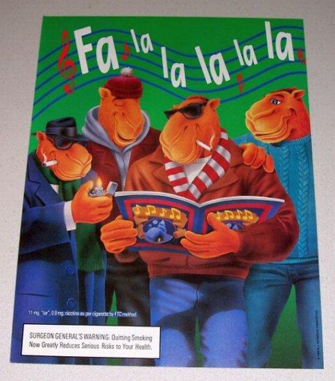 1995 Camel Cigarettes Color Print Art Ad