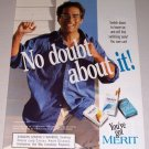 1995 Merit Cigarettes Color Print Tobacco Ad