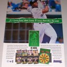 1995 DONRUSS Top of the Order Card Game Color Print Ad MLB Baseball Celebrity Frank Thomas