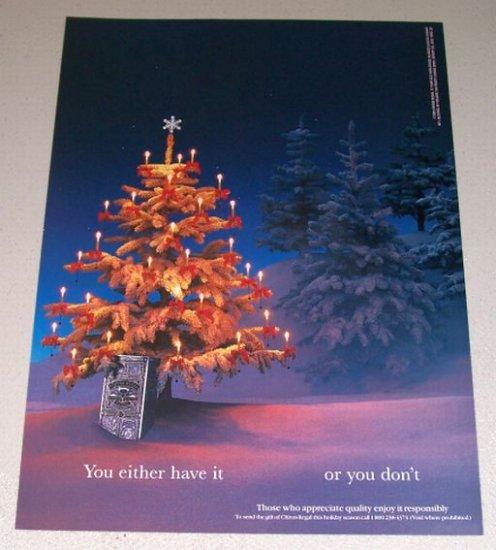 1995 Chivas Regal Scotch Whisky Color Print Christmas Ad