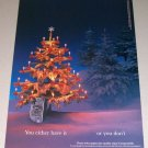 1995 Chivas Regal Scotch Whisky Color Print Christmas Ad