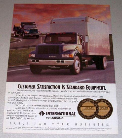 1995 International 4900 Truck Color Print Ad