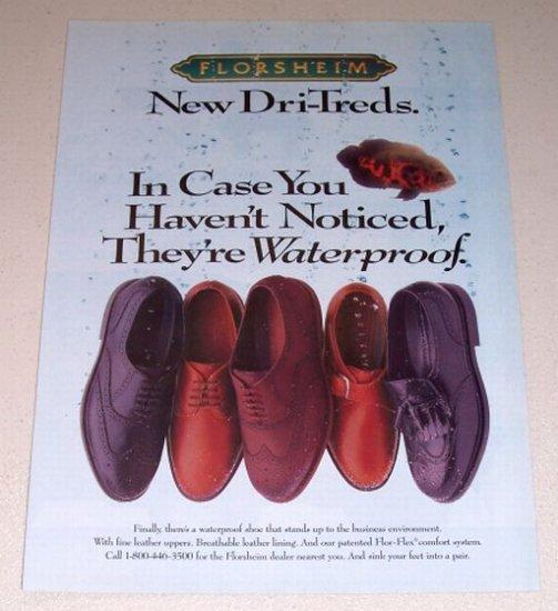 1995 Florsheim Dri-Treds Shoes Color Print Ad