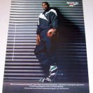 1995 Reebok Logo Warm-up Shoes Color Print Ad NBA Basketball Celebrity Shawn Kemp