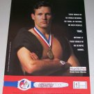 1995 Swatch Olympic Games Collection Watch Color Print Ad Olympics Celebrity Dan Jansen