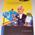 1995 Imported Tanqueray Dry Gin Basketball Court Color Print Art Ad