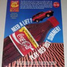 1995 Coca Cola Coke Soda Color Print Beverage Ad - Red Hot Summer