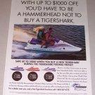 1995 Tigershark Montego Jet Ski Color Print Watercraft Ad
