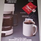 1995 Folgers Coffee Singles Packets Color Print Ad