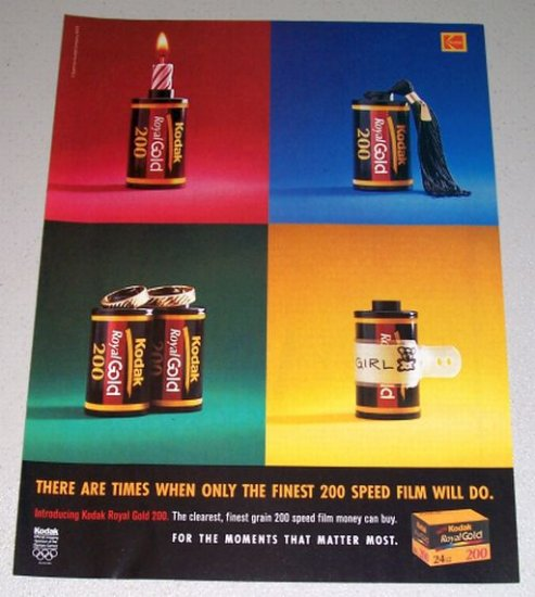 1995 Kodak Royal Gold 200 Camera Film Color Print Ad