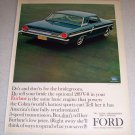 1964 Ford Fairlane 500 Sports Coupe Automobile Color Car Ad