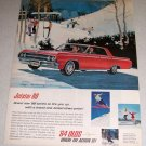 1964 Oldsmobile Jetstar 88 Automobile Color Snow Skiing Art Car Ad