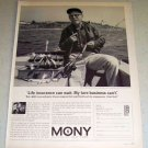 1964 MONY Mutual of New York Insurance Fishing Ad Sumner Halsband East Greenwich R.I.
