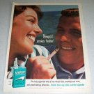1964 Newport Tobacco Cigarettes Color Ad