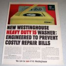 1964 Westinghouse Heavy Duty 15 Washer Color Appliance Ad