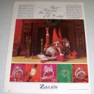 1964 Zales Jewelers Santa Christmas Color Ad