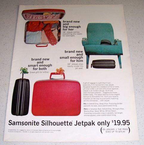 1964 Samsonite Silhouette Jetpak Luggage Color Ad