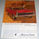 1964 Color Ad for 1965 Mercury Comet Automobile
