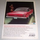 1964 Color Ad for 1965 Ford Galaxie 500 XL Hardtop Automobile