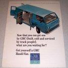 1964 GMC Handi-Van Color Van Ad