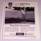 1964 Chap Stick Lip Balm Ad New York Yankees Baseball Ralph Terry