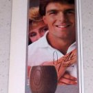 1985 English Leather Cologne Color Ad Celebrity NFL Quarterback Doug Flutie