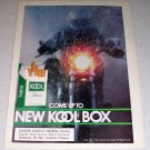 1985 Kool Filters Menthol Cigarettes Color Tobacco Ad