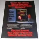 1985 Texaco Havoline Supreme Motor Oil Color Ad Celebrity Bob Hope